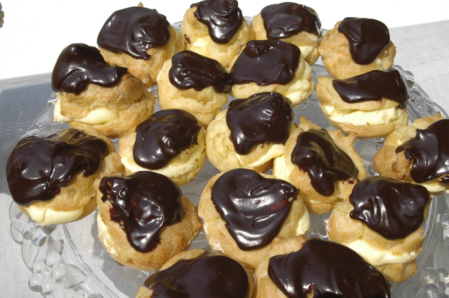 Chocolate Cream Puff chocolate cream puffs hickory creek lane