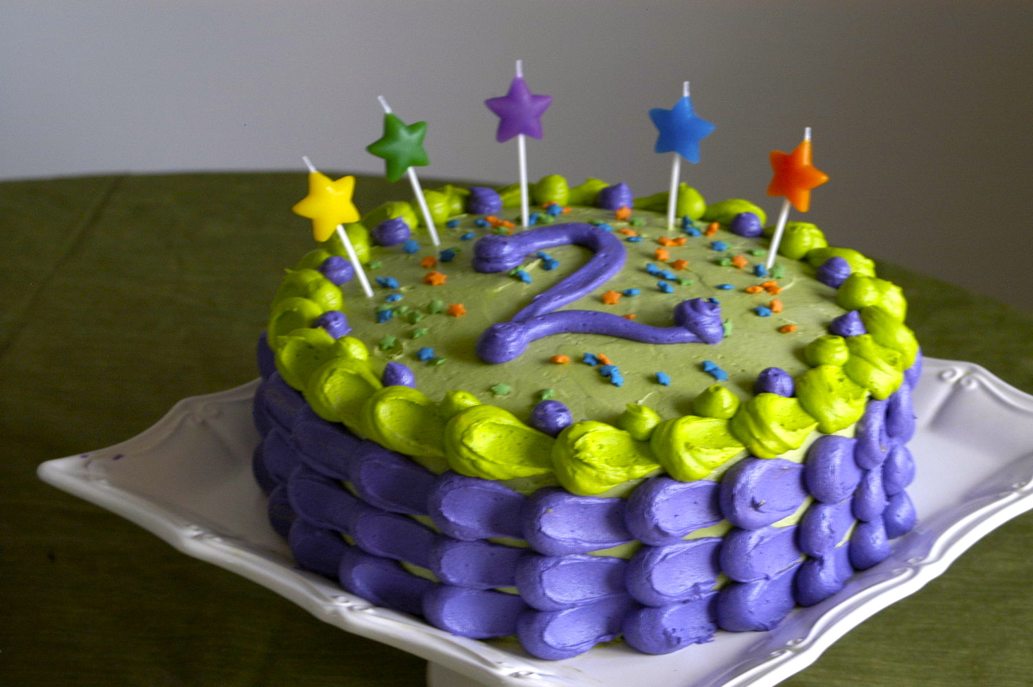 Birthday Cake Ideas For 2nd Birthday Boy : Jack s Funfetti 2nd Birthday Cake   Hickory Creek Lane